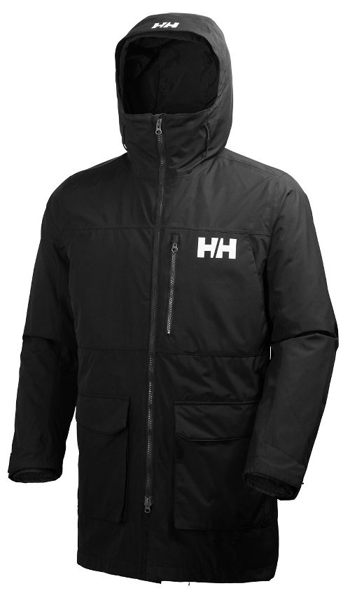 Mens Helly Hansen Rigging Coat Cold Weather Jackets - Black L