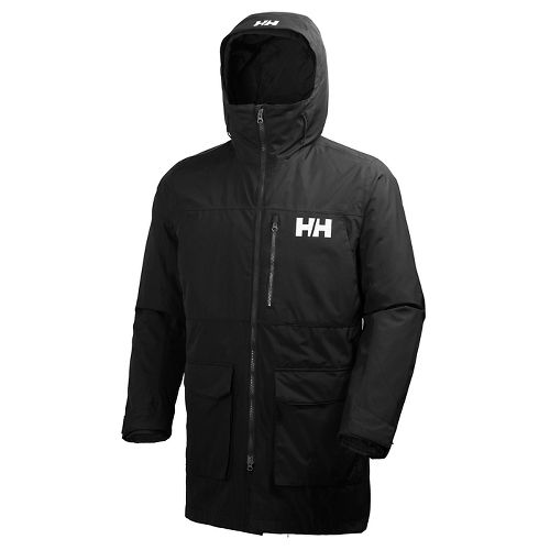 Mens Helly Hansen Rigging Coat Cold Weather Jackets - Black XXL