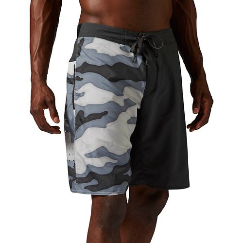 Mens Reebok ONE Series Camo Nasty 2 in 1 Unlined Shorts - Chalk S