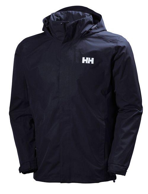 Mens Helly Hansen Dubliner Rain Jackets - Navy XL