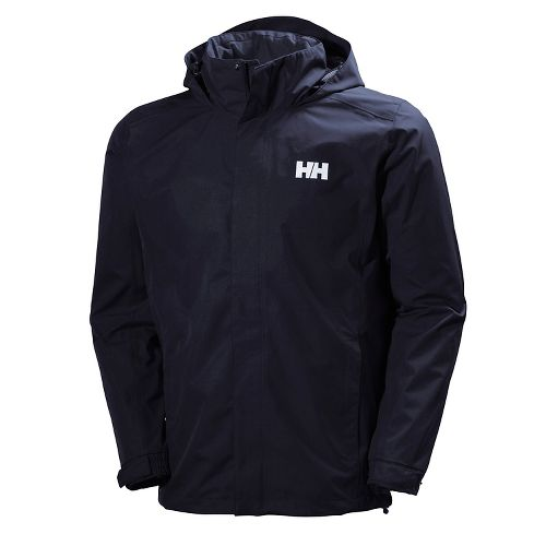 Mens Helly Hansen Dubliner Rain Jackets - Navy L