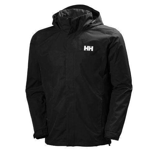 Mens Helly Hansen Dubliner Rain Jackets - Black S