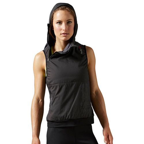 Womens Reebok One Series Running Alpha Vests Jackets - Coal M