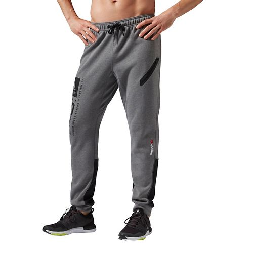 Mens Reebok ONE Series Quik Cotton Jogger Pants - Grey L