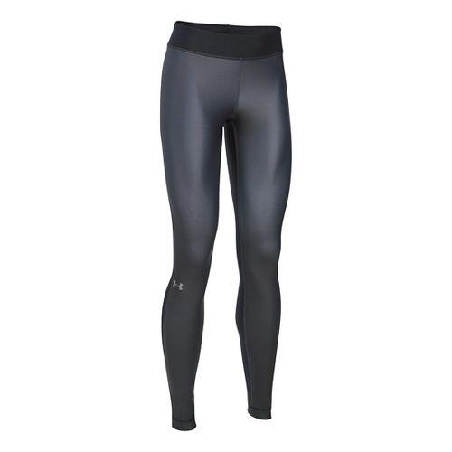 Womens Under Armour HeatGear Engineered Tights & Leggings Pants - Black/Stealth Grey XLR