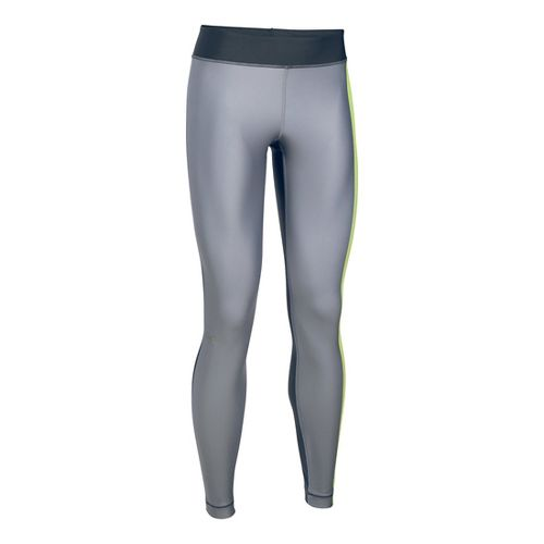 Womens Under Armour HeatGear Engineered Tights & Leggings Pants - Carbon Heather/X-Ray LR