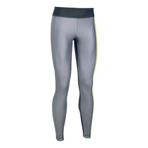 Womens Under Armour HeatGear Engineered Tights & Leggings Pants - Carbon Heather/X-Ray SR