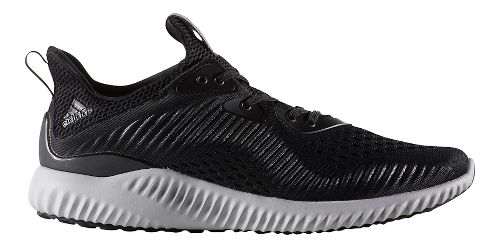 Mens adidas AlphaBounce EM Running Shoe - Black/White 10.5