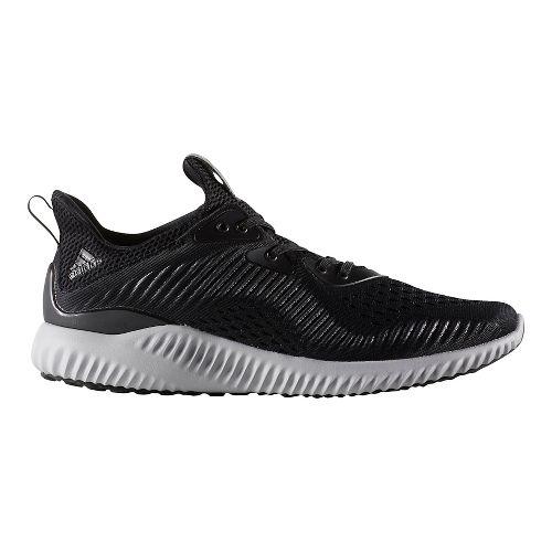 Mens adidas AlphaBounce EM Running Shoe - Black/White 9.5