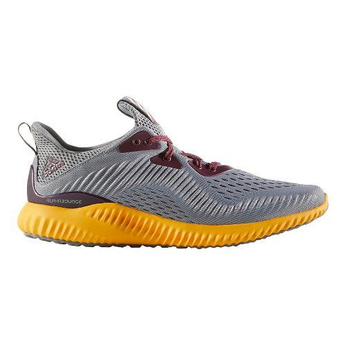 Mens adidas AlphaBounce EM Running Shoe - Black/White 10