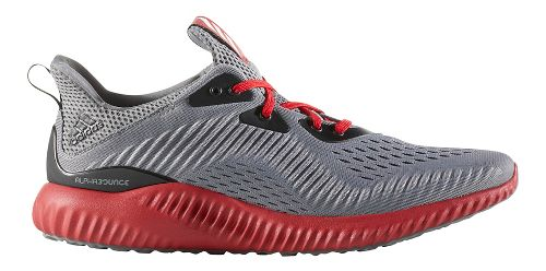 Mens adidas AlphaBounce EM Running Shoe - Black/Red 9.5