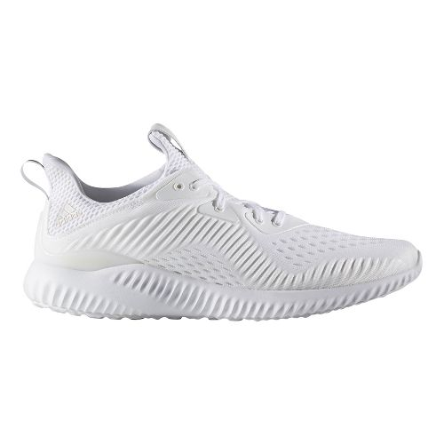 Mens adidas AlphaBounce EM Running Shoe - White 9