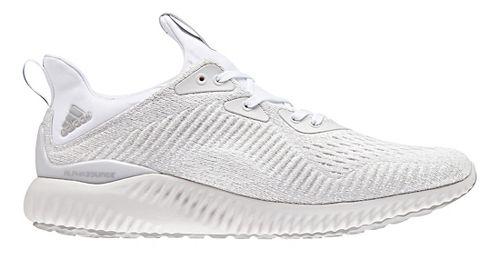 Mens adidas AlphaBounce EM Running Shoe - White/Silver 11.5