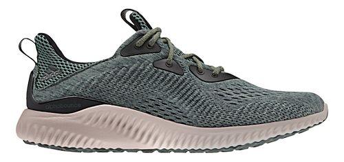 Mens adidas AlphaBounce EM Running Shoe - Ivy/Grey 11.5