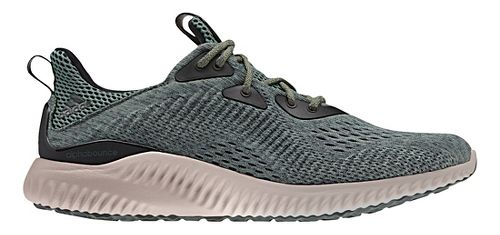 Mens adidas AlphaBounce EM Running Shoe - Ivy/Grey 9.5
