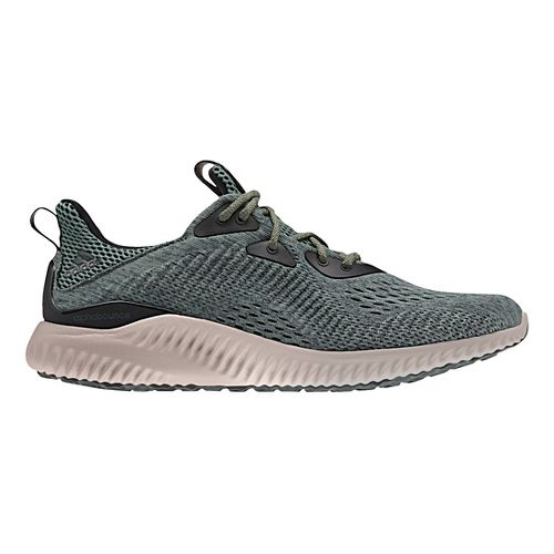Mens adidas AlphaBounce EM Running Shoe - Ivy/Grey 8