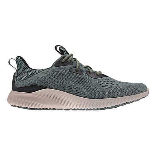 Mens adidas AlphaBounce EM Running Shoe - Black/White 10.5