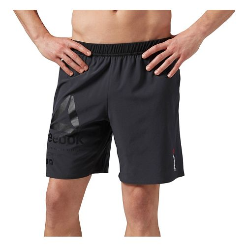 Mens Reebok One Series SpeedWick Stretch Woven Unlined Shorts - Coal S-R