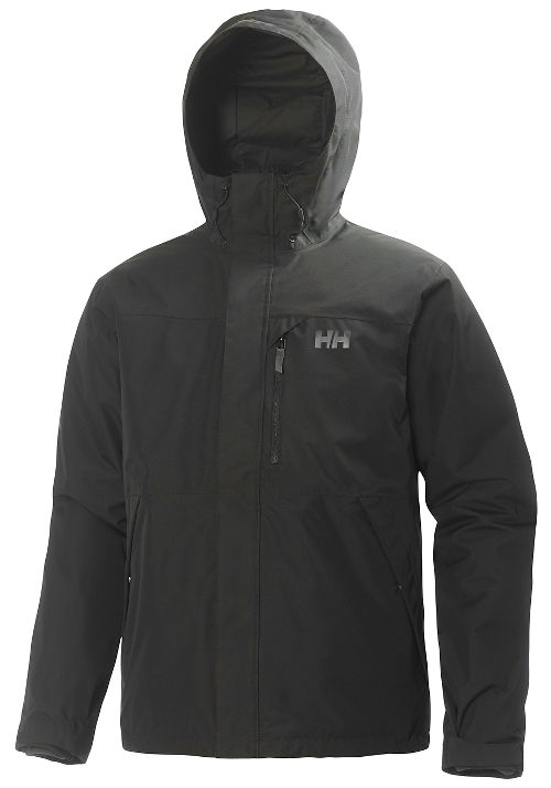 Mens Helly Hansen Squamish CIS Rain Jackets - Black M