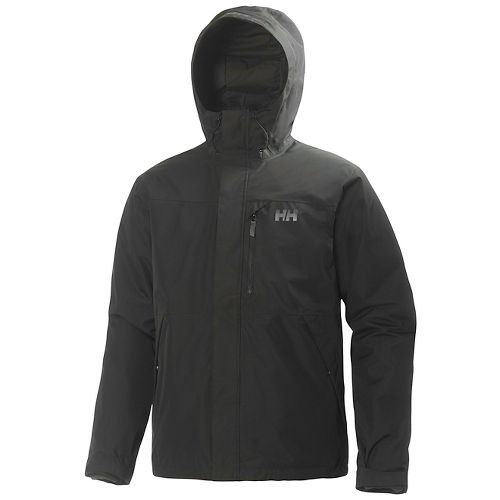 Mens Helly Hansen Squamish CIS Rain Jackets - Black L