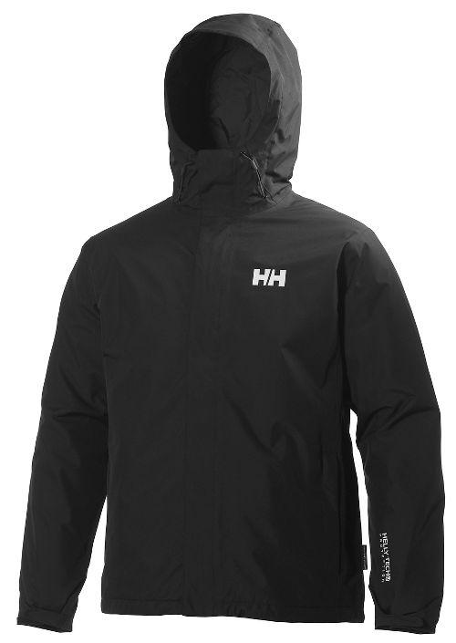 Mens Helly Hansen Seven J Light Insulated Rain Jackets - Black L