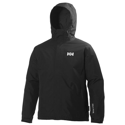 Mens Helly Hansen Seven J Light Insulated Rain Jackets - Black M
