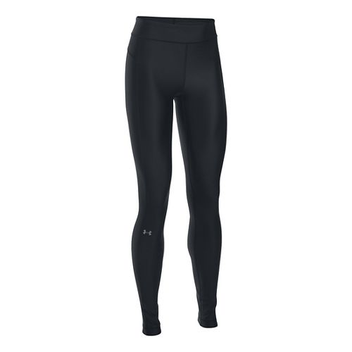 Womens Under Armour HeatGear Tights & Leggings Pants - Black SR