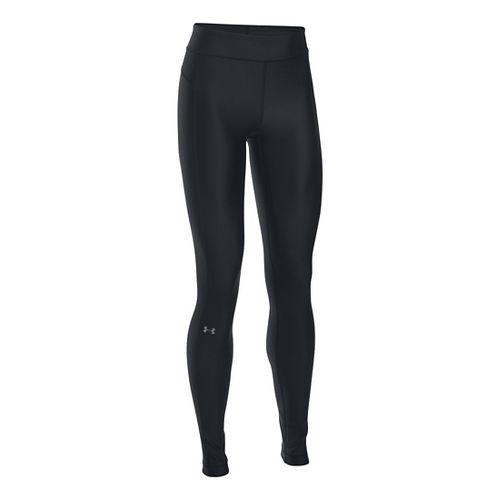 Womens Under Armour HeatGear Tights & Leggings Pants - Black XSR