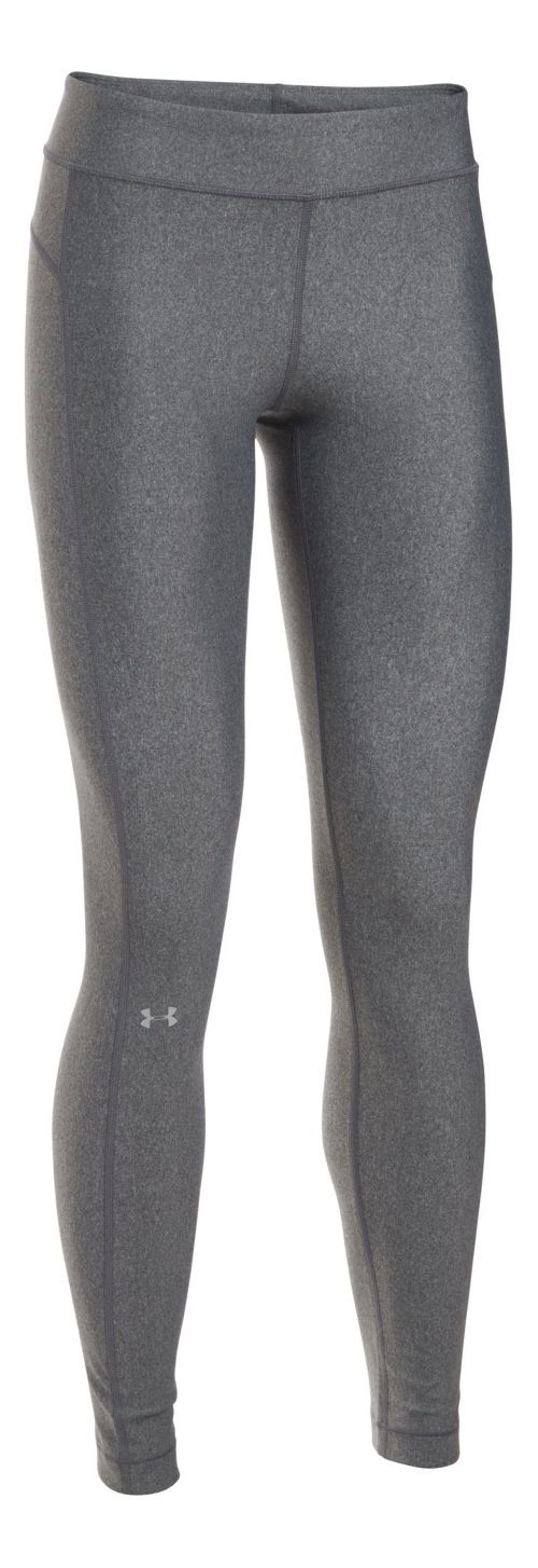 Womens Under Armour HeatGear Tights & Leggings Pants - Carbon Heather M