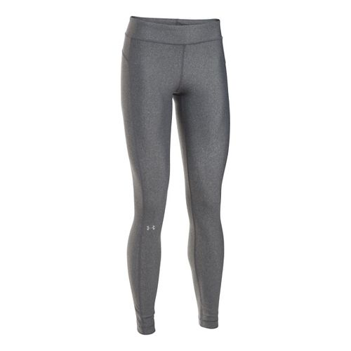 Womens Under Armour HeatGear Tights & Leggings Pants - Carbon Heather SR