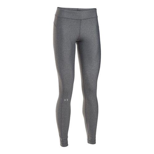 Womens Under Armour HeatGear Tights & Leggings Pants - Carbon Heather XS