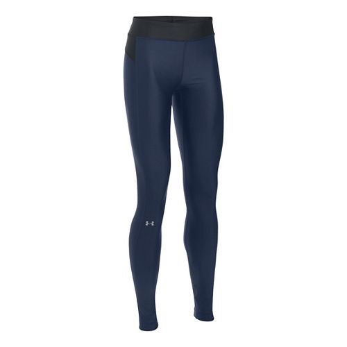 Womens Under Armour HeatGear Tights & Leggings Pants - Midnight Navy/Black XLR
