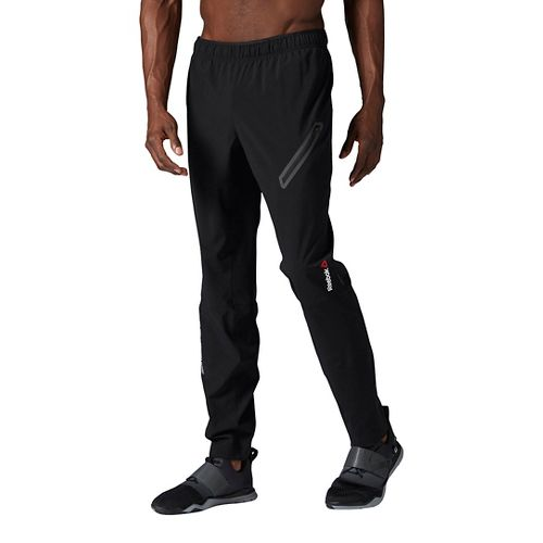 Mens Reebok ONE Series Woven Trackster Pants - Black L
