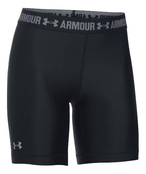 Womens Under Armour HeatGear Long Short Compression & Fitted Shorts - Black M