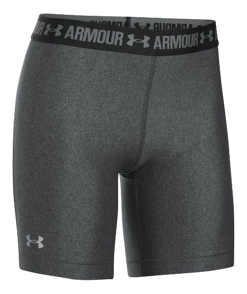 Womens Under Armour HeatGear Compression & Fitted Shorts - Carbon/Anthracite M