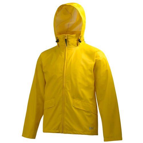 Mens Helly Hansen Voss Rain Jackets - Essential Yellow XS