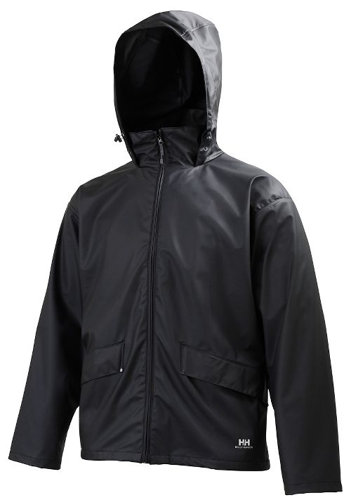 Mens Helly Hansen Voss Rain Jackets - Black S