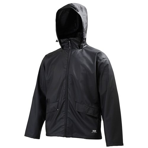 Mens Helly Hansen Voss Rain Jackets - Black XXL