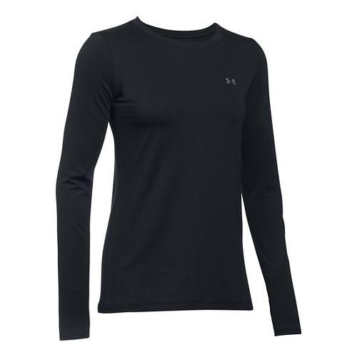 Womens Under Armour HeatGear Long Sleeve Technical Tops - Black XL