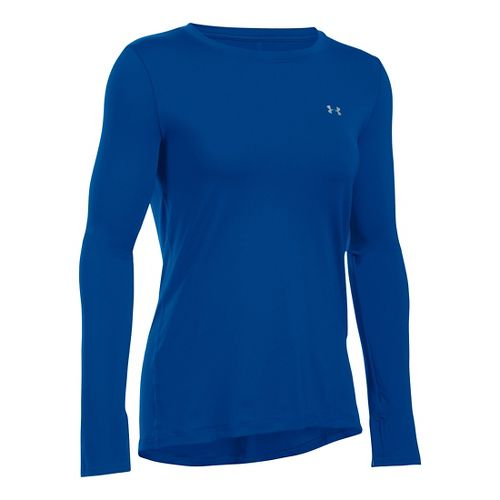 Womens Under Armour HeatGear Long Sleeve Technical Tops - Royal XL