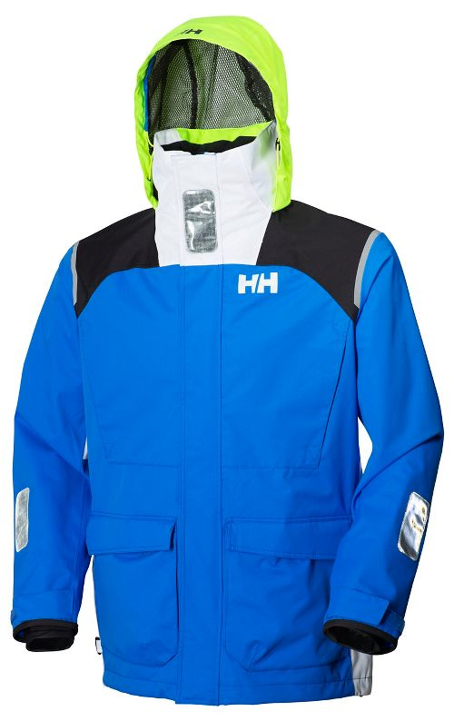 Mens Helly Hansen Newport Rain Jackets - Racer Blue S