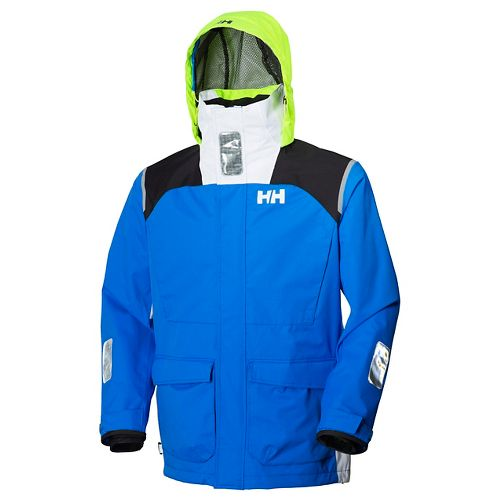 Mens Helly Hansen Newport Rain Jackets - Racer Blue M