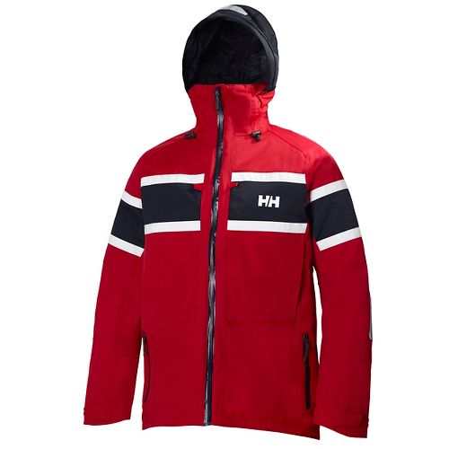 Mens Helly Hansen Salt Cold Weather Jackets - Red L