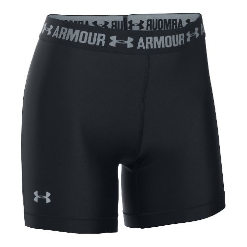 Womens Under Armour HeatGear Middy Compression & Fitted Shorts - Black M