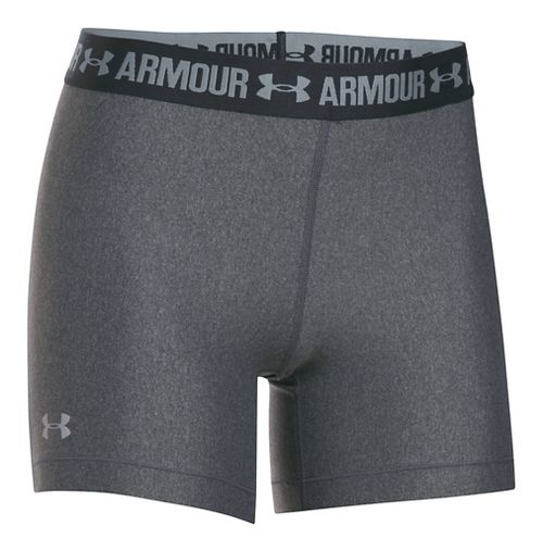 Womens Under Armour HeatGear Middy Compression & Fitted Shorts - Carbon/Anthracite XS