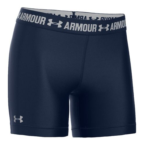 Womens Under Armour HeatGear Middy Compression & Fitted Shorts - Midnight Navy M