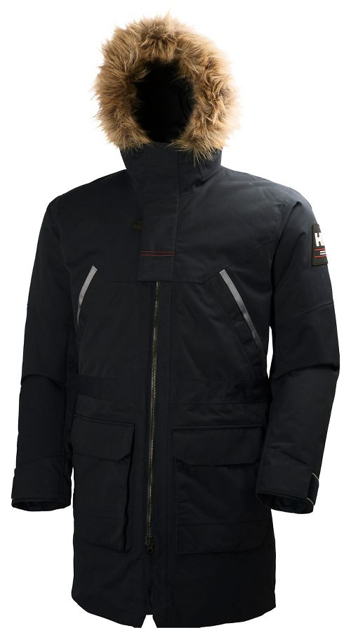 Mens Helly Hansen Legacy Parka Cold Weather Jackets - Black S
