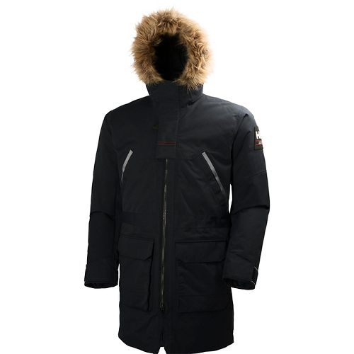 Mens Helly Hansen Legacy Parka Cold Weather Jackets - Black M