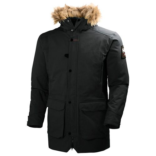Mens Helly Hansen Norse Parka Cold Weather Jackets - Black L