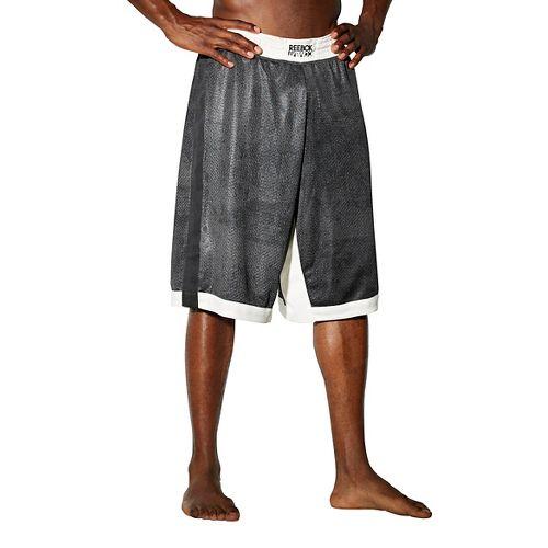 Mens Reebok RNF Boxing LG 13 Inch Unlined Shorts - Grey L